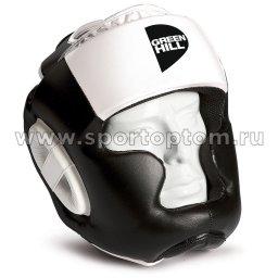 Шлем боксёрский Green Hill POISE закрытый PU FX  HGP-9015 Бело-черный