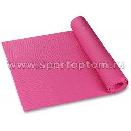 Коврик для йоги и фитнеса INDIGO PVC YG06 173*61*0,6 см Цикламеновый