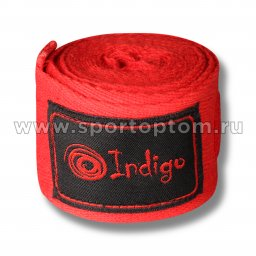 Бинт боксёрский INDIGO  х/б, нейлон  1115 3 м Красный