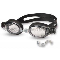 Очки для плавания INDIGO сменная переносица 201 G Черный