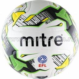 Мяч футбольный №5  MITRE DELTA MATCH тренировочный (термопластичн.PU) BB 1100WHK Бело-зелено-черный