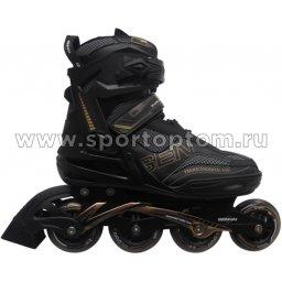 Роликовые коньки SENHAI PW-150G  Черно-золотой