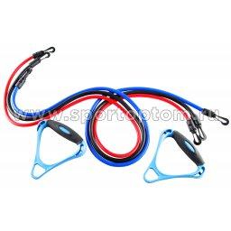 Эспандер в наборе 3 латексных жгута разной нагрузки для степа HAWK  12101 HKAS 120 см Красный, Синий, Черный
