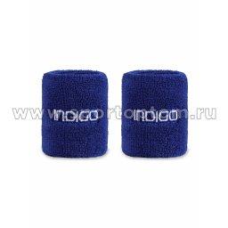 Напульсник махровый (2шт) INDIGO IN266 7,5*8см Синий