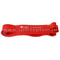 Эспандер резиновая петля сопротивления Кроссфит INDIGO 601 HKRBB 208*1,9см Красный