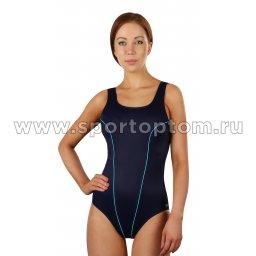 Купальник для плавания SHEPA  совместный женский со вставками 031 Темно-синий