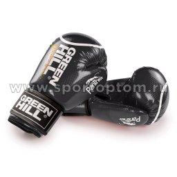 Перчатки боксёрские Green Hill PANTHER PU 2t c 3D фактурой   BGP-2098 10 унций Черный