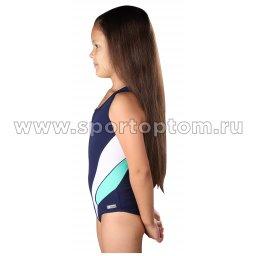 Купальник для плавания совместный детский со вставками SHEPA 045 Темно-синий (3)