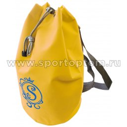 Рюкзак для художественной гимнастики универсальный вензель GPS00051 40*22*22 см Лимонный