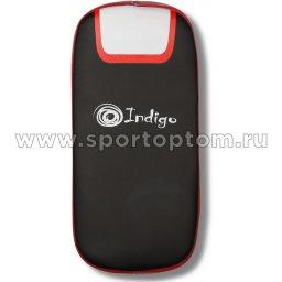 Макивара изогнутая INDIGO PU PS-511 41*22 см Черно-красно-белый