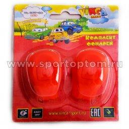 Вело Фонари детские 2шт  (2диода белый+красный 2 режима)  VL-267-2В Красный