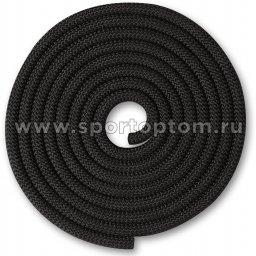 Скакалка для художественной гимнастики Утяжеленная 150 г INDIGO SM-121 2,5 м Черный
