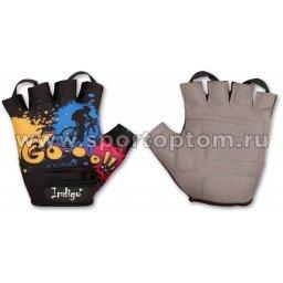 Перчатки вело детские INDIGO GO IN180 4XS Черный