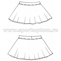 Юбочка гимнастическая лукра INDIGO SM-078 Белый (3)