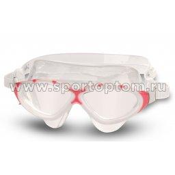 Очки для плавания (полумаска) INDIGO SNEPPER  GL3-2 Бело-розовый