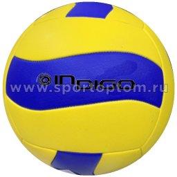 Мяч волейбольный INDIGO WAVE любительский шитый (PVC Foamitex) IN161 Желто-Синий