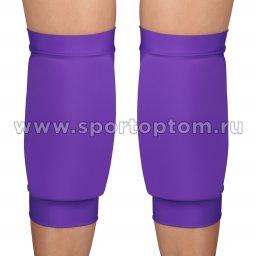 Наколенник для гимнастики и танцев INDIGO NORA удлинённый усиленный  SM-377 L Фиолетовый