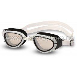 Очки для плавания INDIGO MANTIS зеркальные S997M Черно-белый