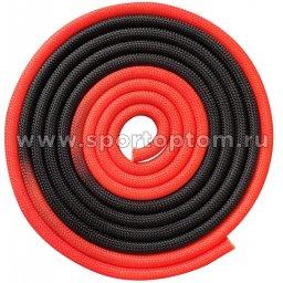 Скакалка для художественной гимнастики утяжеленная двухцветная INDIGO 165 г IN166 3 м Красно-черный