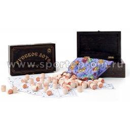 Русское лото Подарочное в деревянной шкатулке  274-18 25*19*6см Венге