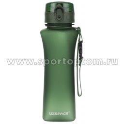 Бутылка для воды с сеточкой UZSPACE 500мл тритан 6008 Зеленый матовый (1)