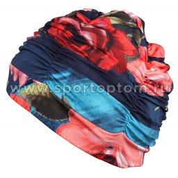 Шапочка для плавания ткань LUCRA SM женская  с драпировкой SM-092 Мультицвет (3)