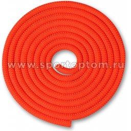 Скакалка для художественной гимнастики Утяжеленная 150 г INDIGO SM-121 2.5 м Коралловый