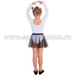 Юбочка гимнастическая сетка INDIGO SM-081 Черный (2)