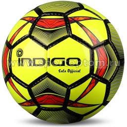 Мяч футбольный Футзал №4 INDIGO SALA OFFICIAL тренировочный F02 Желто-черный