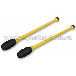 Булавы для художественной гимнастики вставляющиеся INDIGO IN018 41 см Желто-черный