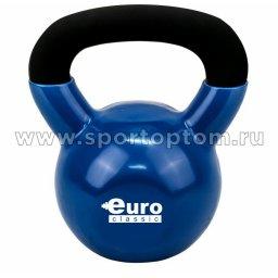 Гиря чугунная обрезиненная 16,0 кг EK-204 16 кг Черно-синий