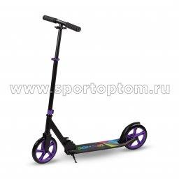 Самокат взрослый INDIGO VAMOS IN054 Черно-фиолетовый (1)