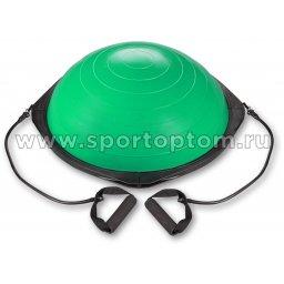 Полусфера для фитнеса BOSU с эспандерами и насосом IN086 60 см Зеленый