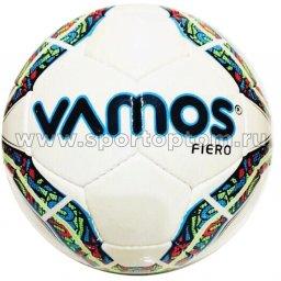 Мяч футбольный №3 VAMOS FIERO тренировочный (PU) BV 2563-AFH Бело-сине-зеленый
