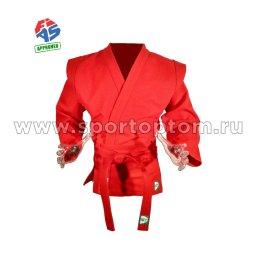 Куртка для Самбо Green Hill Мастер FIAS Approved х/б 100%, 550г/м2 SC-550 Красный