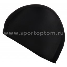 Шапочка для плавания  ткань LUCRA SM однотонная SM-091 Черный