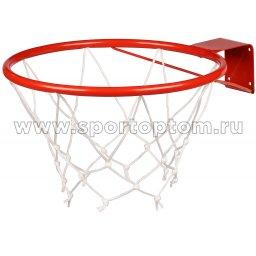 Кольцо баскетбольное с сеткой (труба) AN-10 №3 (290 мм) Красный