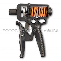 Эспандер кистевой пружинный регулируемый INDIGO 15-50 кг IN096 Черный