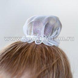 Сеточка для волос INDIGO SM-329               9 см Белый