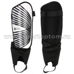 Щитки футбольные INDIGO  с защитой щиколотки 1509 M-L Черно-белый