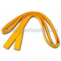Пояс для кимоно RA-009  2.6 м Желтый