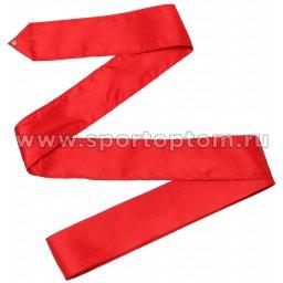 Лента гимнастическая без палочки СЕ1 6,0 м Красный