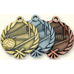 Медали INDIGO Волейбол d48мм к-т 3шт: золото,серебро,бронза 480005 ZS                 48 мм
