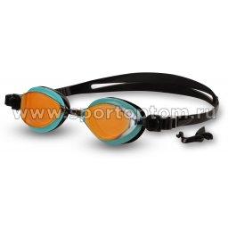 Очки для плавания BARRACUDA FENIX MIRROW сменная переносица 72710  Оранжево-черно-бирюзовый