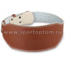 Пояс тяжелоатлетический 15 см кожа E125  (2)