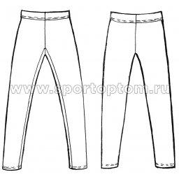 Лосины гимнастические  INDIGO хб SM-102 Черный (3)
