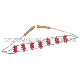 Массажер ленточный зубчатый, 7-ми рядный 97376 IR Красный