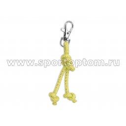 Сувенир брелок скакалка для художественной гимнастики INDIGO SM-392 10 см Салатовый люрикс