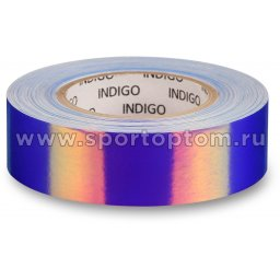 Обмотка для обруча с подкладкой INDIGO зеркальная RAINBOW IN151 20мм*14м Сине-фиолетовый
