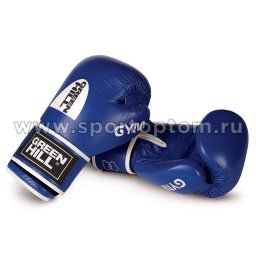 Перчатки боксёрские Green Hill GYM н/к BGG-2018 12 унций Синий